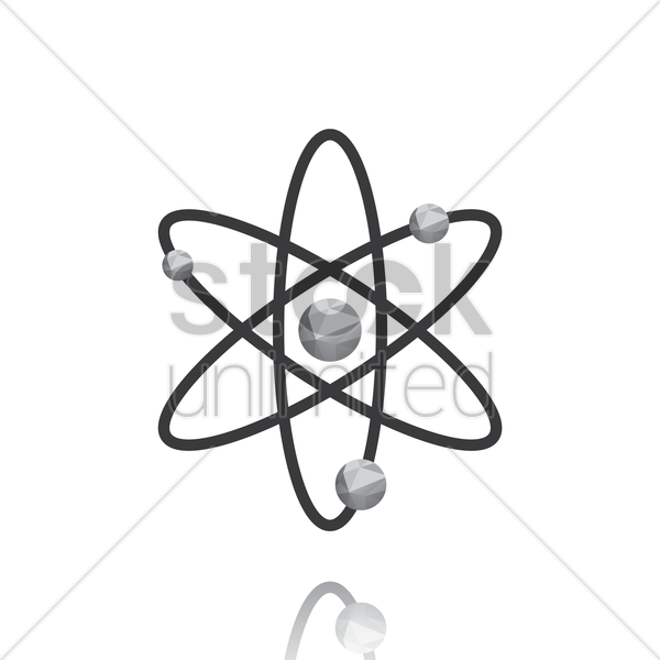 atom structure vector graphic