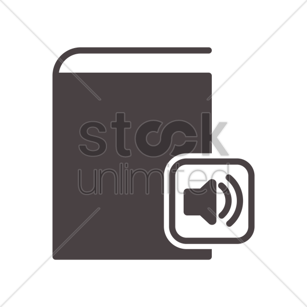 audio book icon vector graphic