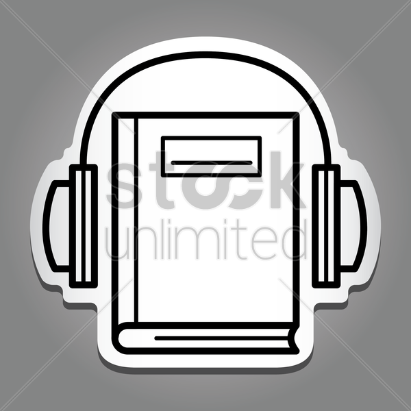 audio book vector graphic