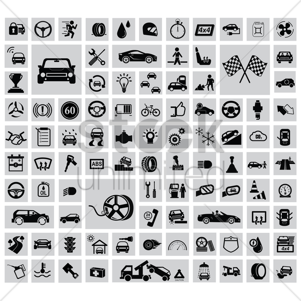 automobile collection vector graphic