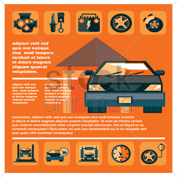 automotive infographic vector graphic