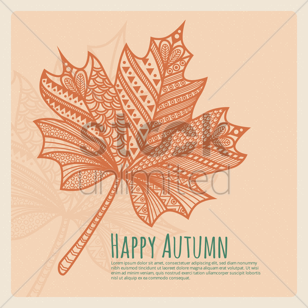 autumn leaf vector graphic