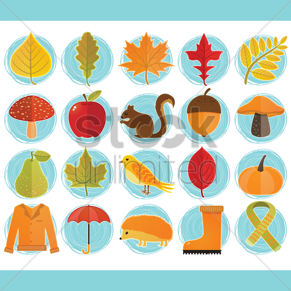 autumn themed vectors vector graphic