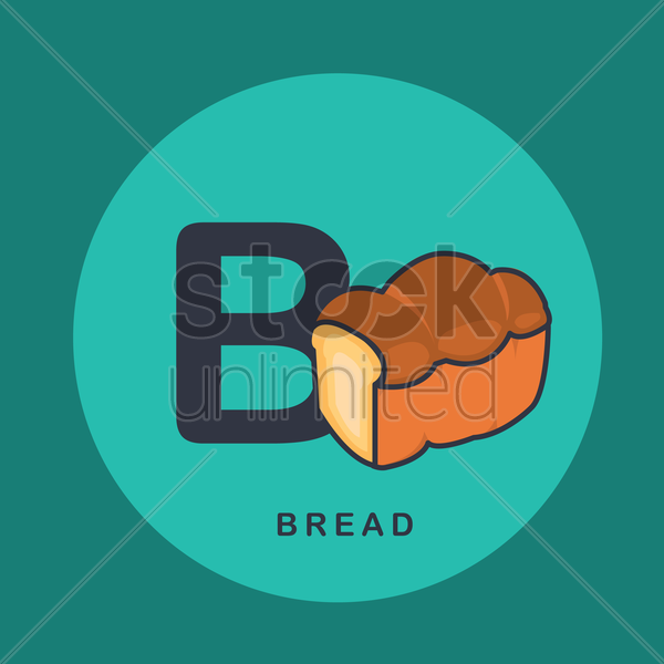 Free b for bread vector graphic