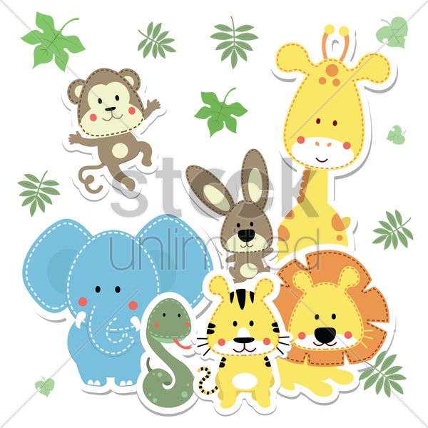 baby animals vector graphic