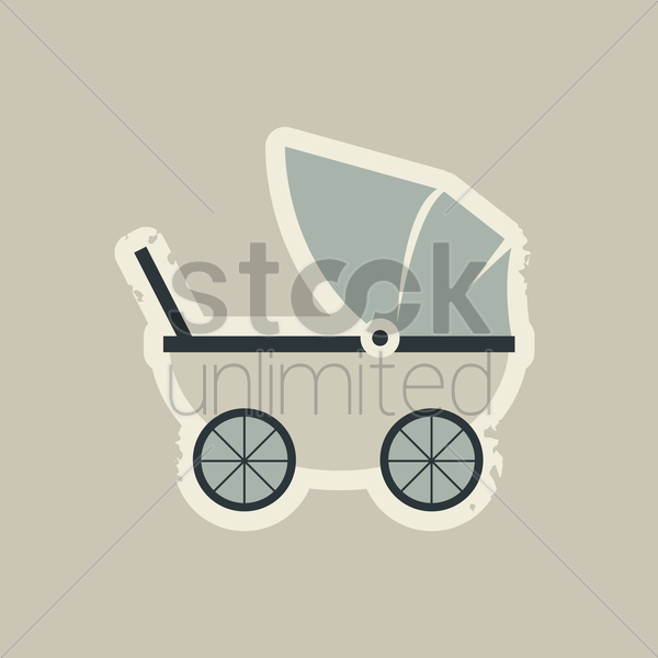 baby carrier vector graphic