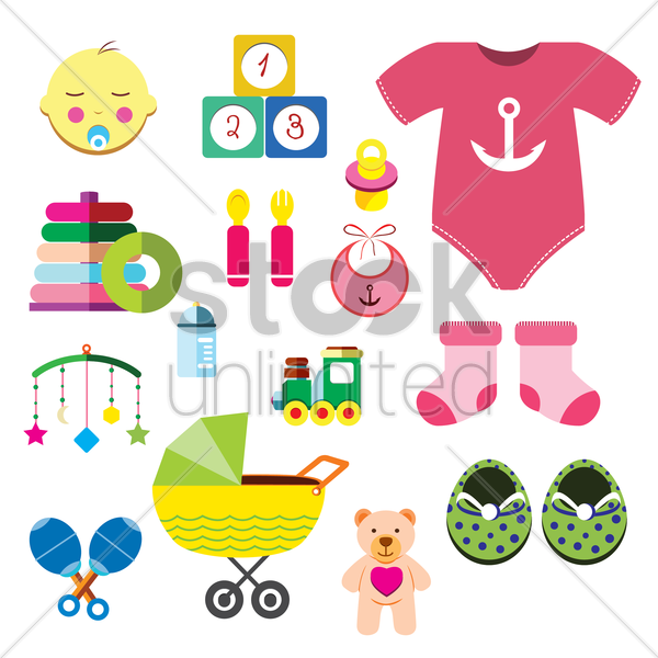 baby collection vector graphic