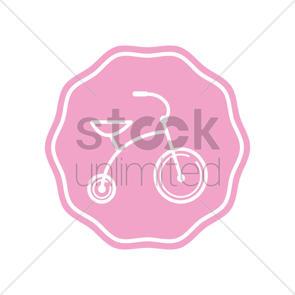 baby cycle vector graphic