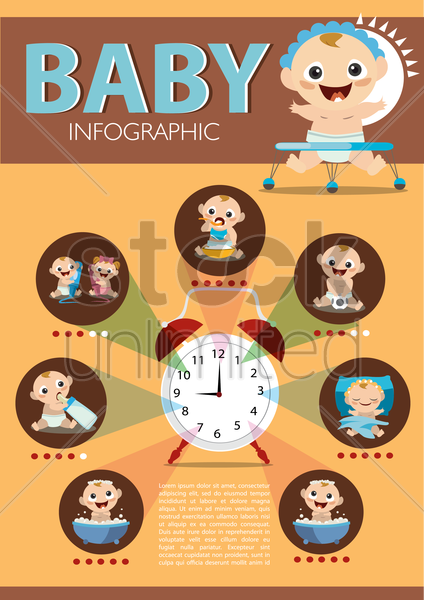 Free baby infographic vector graphic