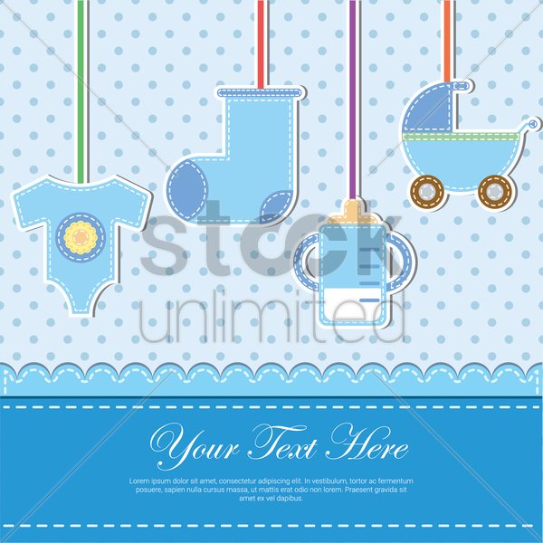 baby items card vector graphic