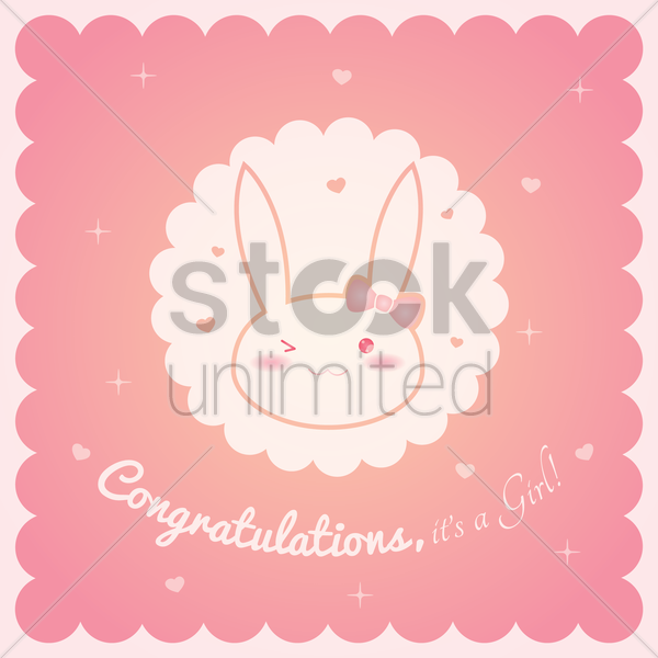 baby shower card vector graphic