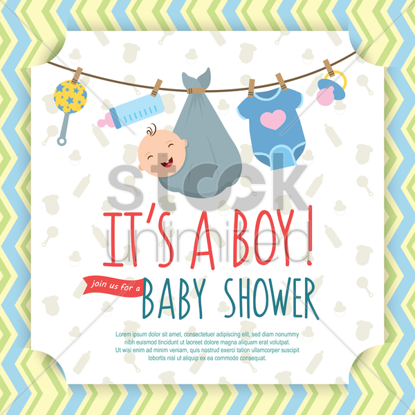 baby shower invitation vector graphic
