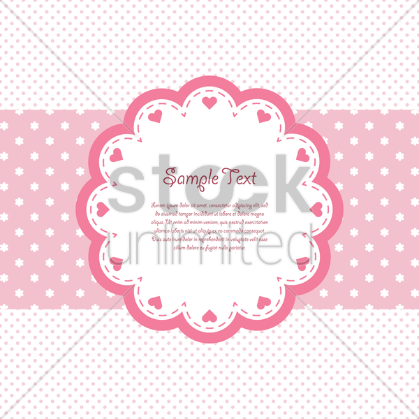 baby shower label vector graphic