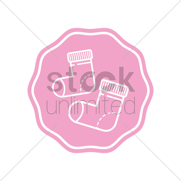 baby socks vector graphic