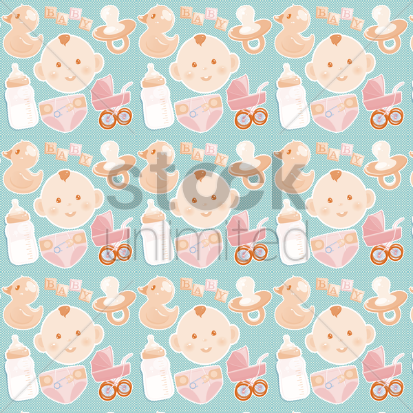 baby theme background vector graphic
