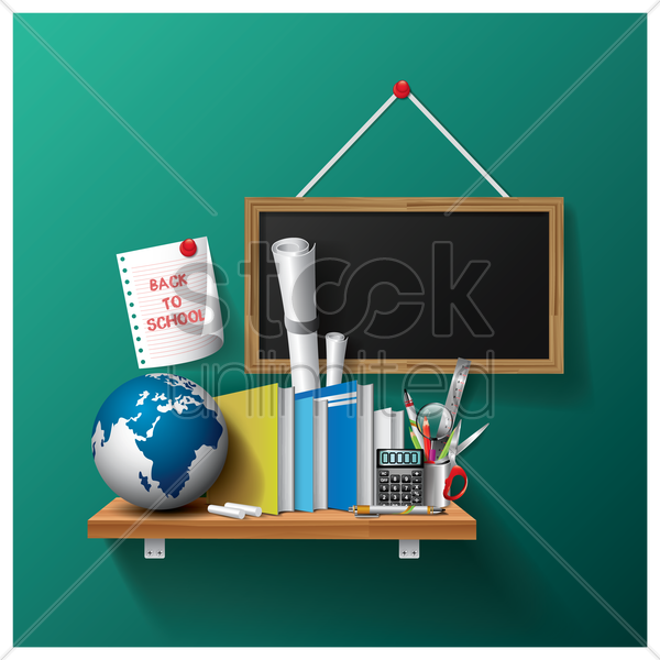 back to school design vector graphic