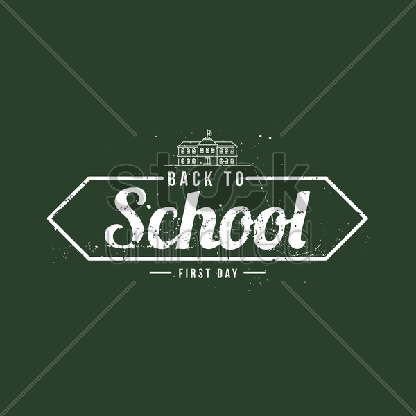back to school poster vector graphic