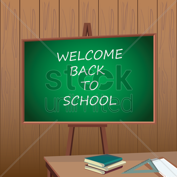 Free back to school wallpaper vector graphic