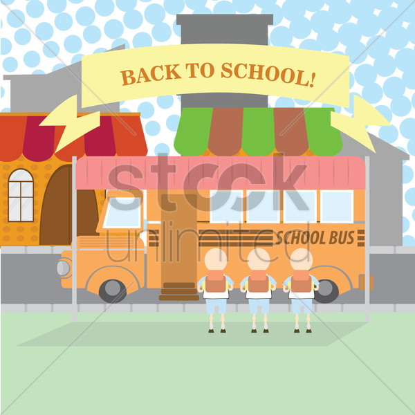 back to school vector graphic
