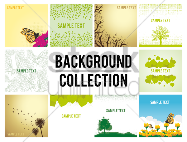 background collection vector graphic