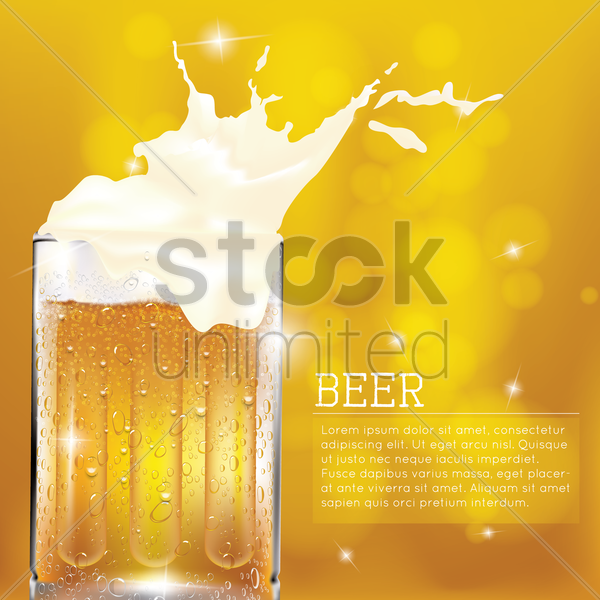 background with beer vector graphic