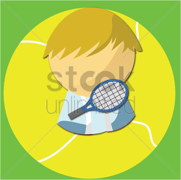 Free badminton player vector graphic