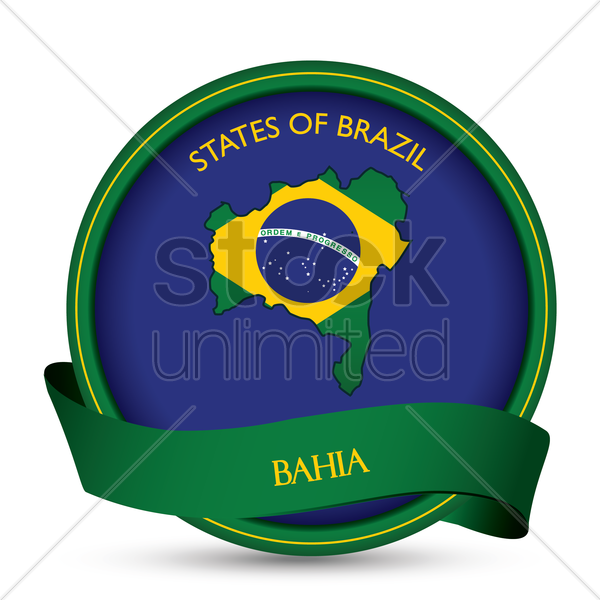 bahia map label vector graphic