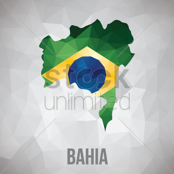 bahia state map vector graphic