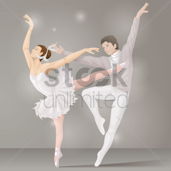 ballet dance couple vector graphic