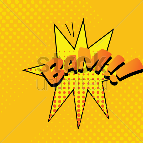 bam comic speech bubble vector graphic