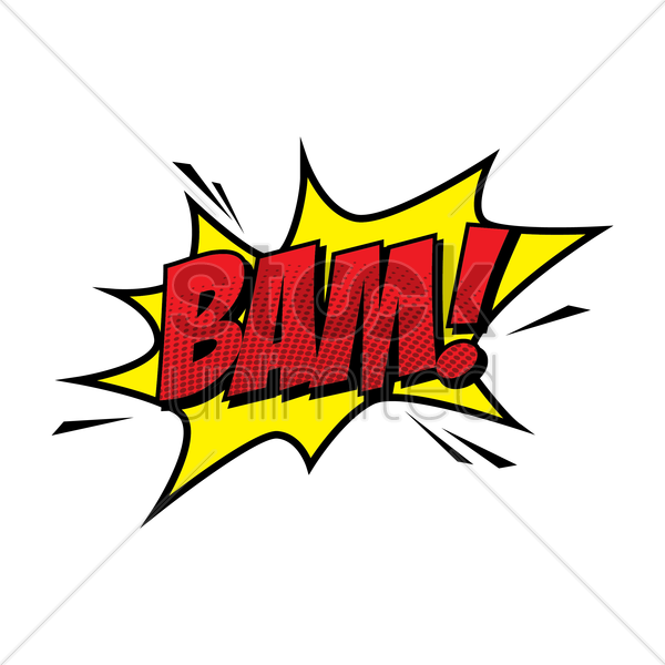 bam comic speech vector graphic