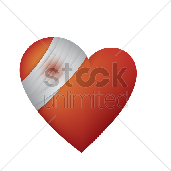 bandaged heart vector graphic