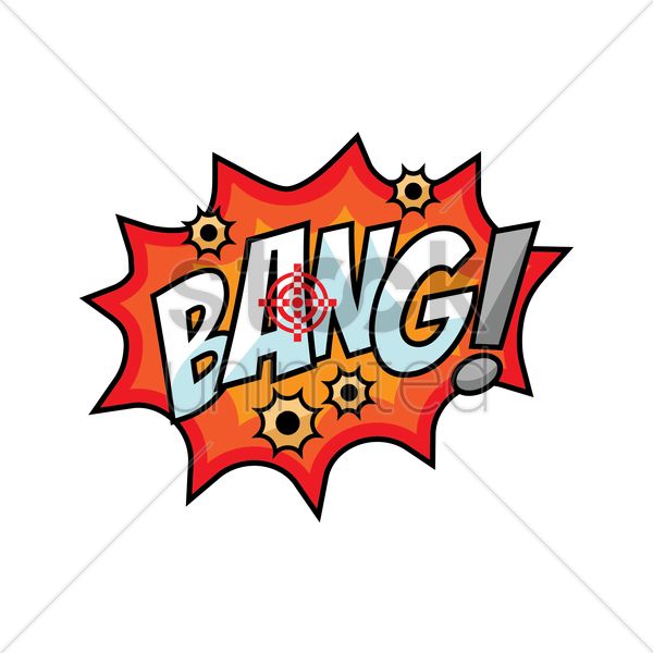 bang comic speech bubble vector graphic