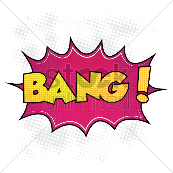 bang comic speech vector graphic