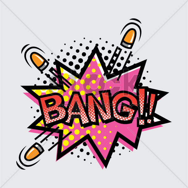 bang text with comic effect vector graphic