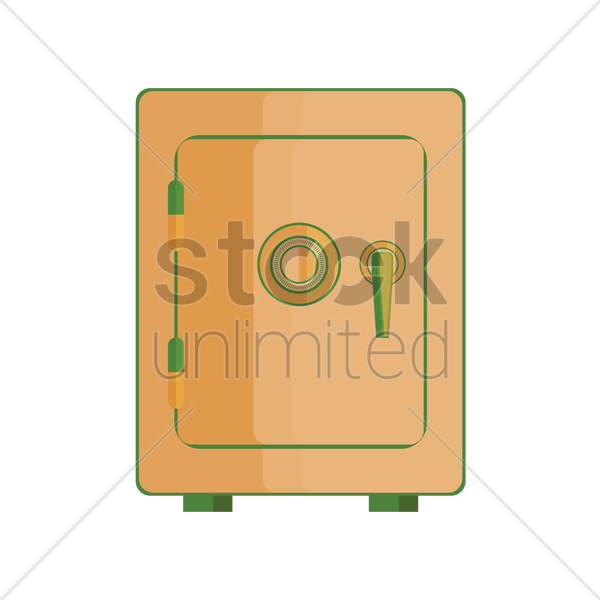 Free bank safe vector graphic