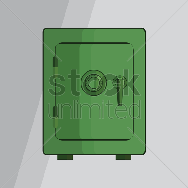 bank safe vector graphic