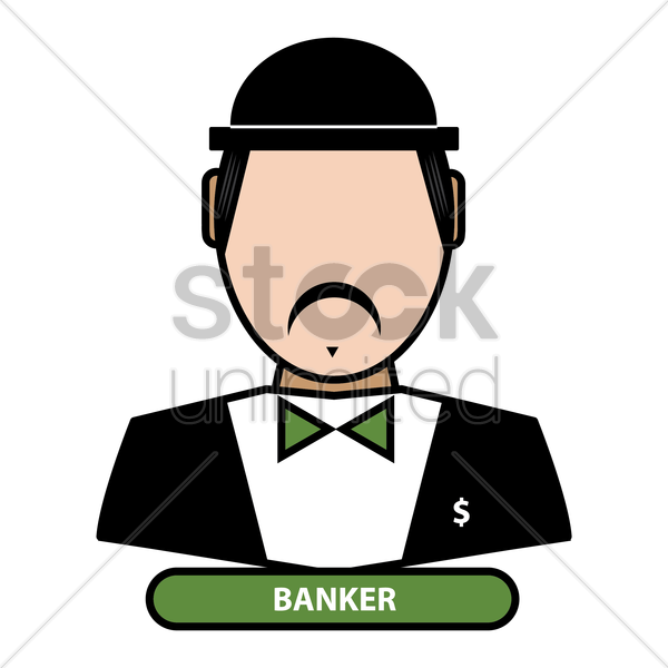 banker vector graphic