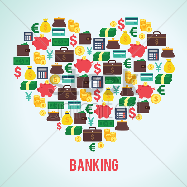 banking concept icons vector graphic