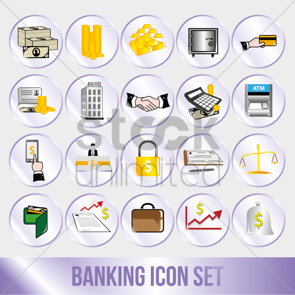 banking concept vector graphic