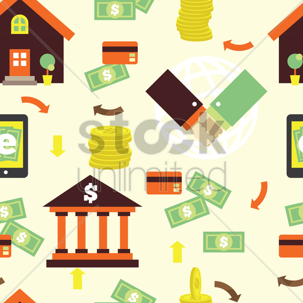 banking theme background vector graphic
