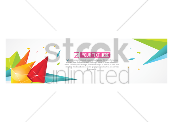 banner design vector graphic