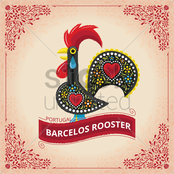 barcelos rooster vector graphic