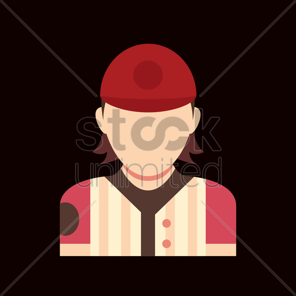 Free baseball player vector graphic