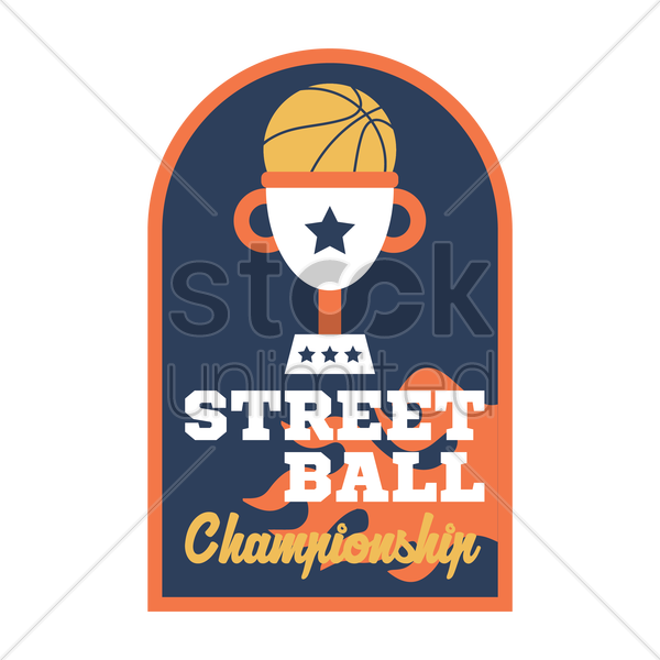 basketball championship sticker vector graphic