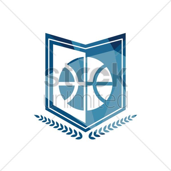 basketball emblem vector graphic