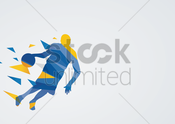 basketball in action vector graphic