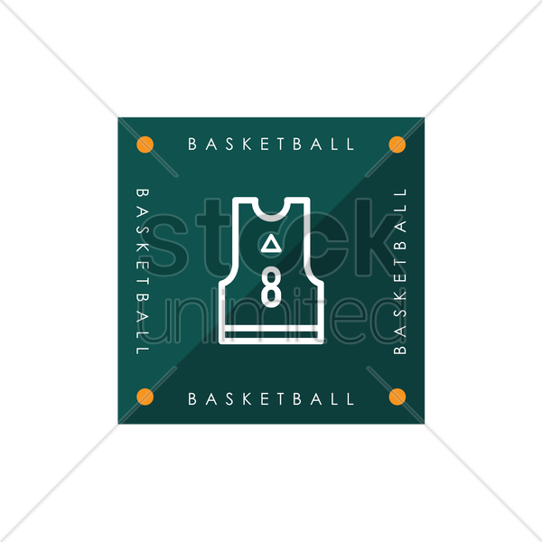 basketball jersey vector graphic