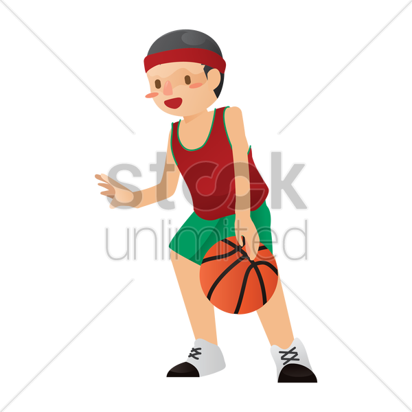 basketball player vector graphic
