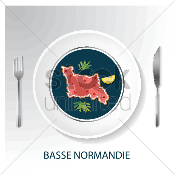 basse normandie map vector graphic